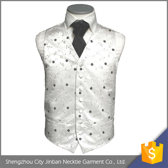 Quality discount 100% polyester woven ivory work v neck quilted man vest with logo