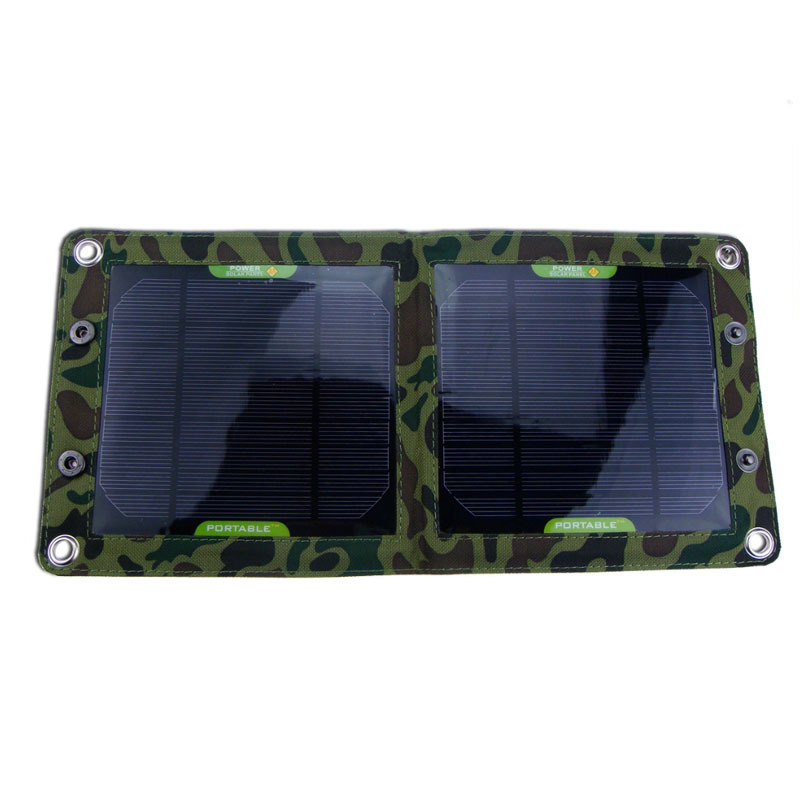 7W Foldable Solar Panel charger for cell phone Samsung and Many Other 5V USB-Charged Devices