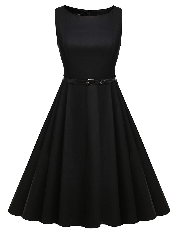 165510e56ab ACEVOG Women 50s Rockabilly Audrey Dress Retro Cocktail Dress with Belt¡.  29.99. null. Get Quotations · free shipping Elegant Vintage ...