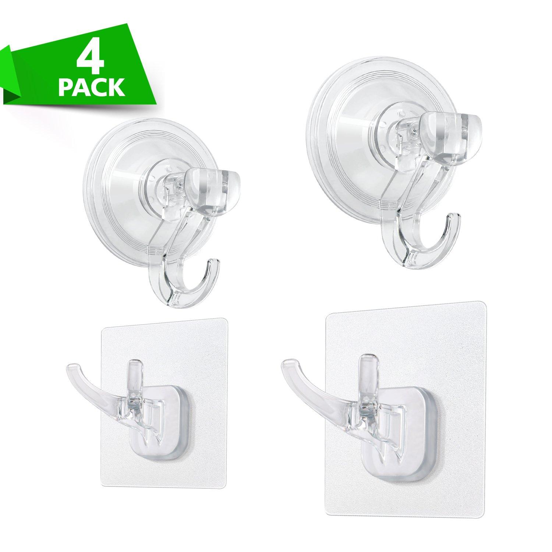 Buy Elktry Scution Cup Hooks Transparent Plastic Suction Hook