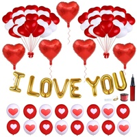Umiss Paper Valentines Day Heart Balloons Kit Decorations, Birthdays, Fiestas, Weddings and Holiday Factory OEM