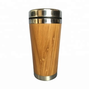 16OZ Wooden/Bamboo Stainless Travel Mug For Coffee