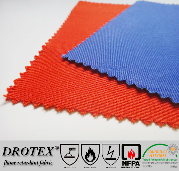 oeko-tex standard 100 environmental friendly fr treated cotton fabric