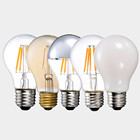China manufacturers of edison style led bulbs 4w 6w 8w A19/A60 dimmable filament led light bulb