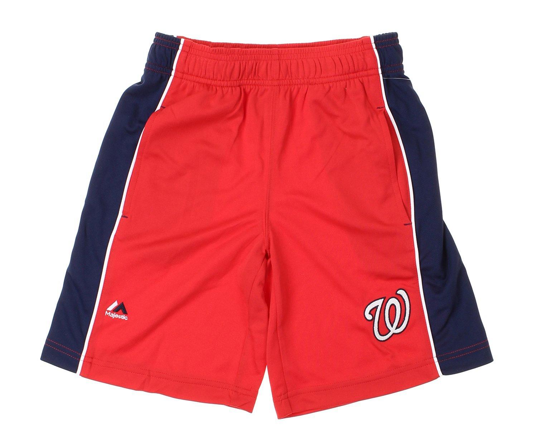 finest selection 97de3 0b81b MLB Washington Nationals Big Boys Youth Baseball Classic Shorts, Red