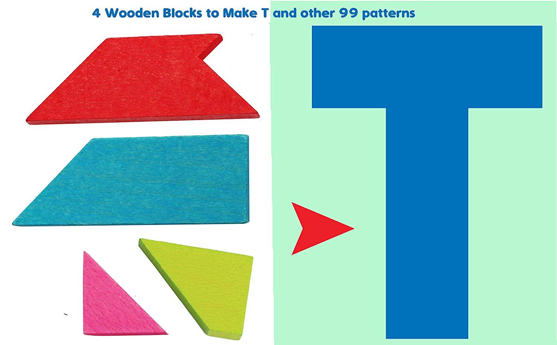 Geduldspiel Of wooden wisdom plate Tangram