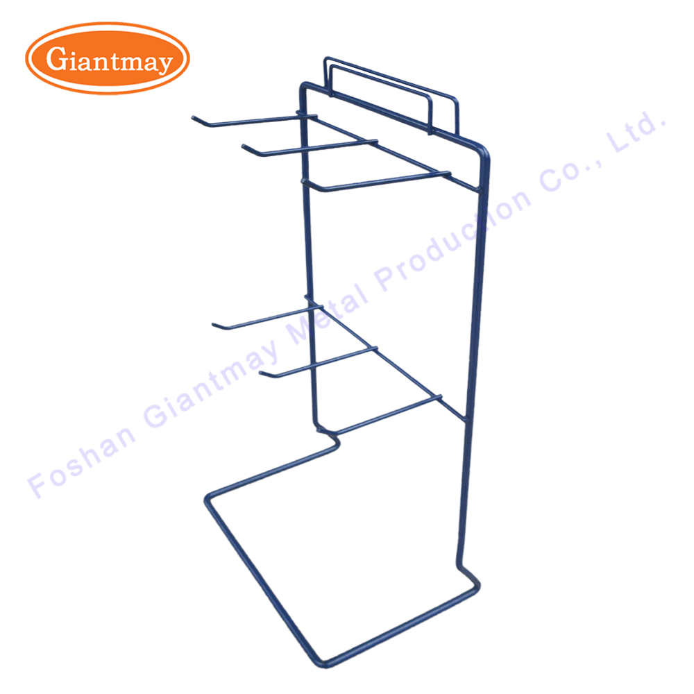 Custom portable small metal peg hook counter table top keychain product hanging display rack stand for accessories