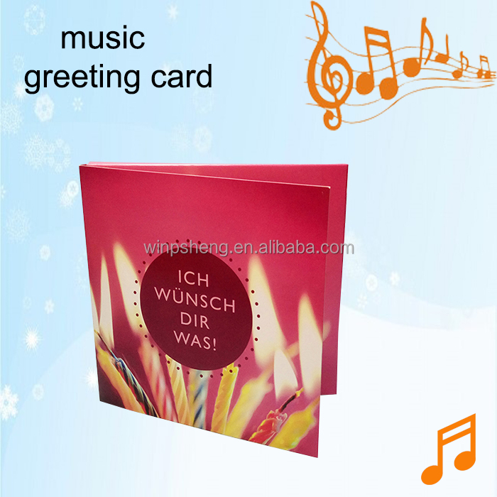 Happy Birthday Music Greeting Card With Sound Chip Happy Birthday – Happy Birthday Musical Greetings