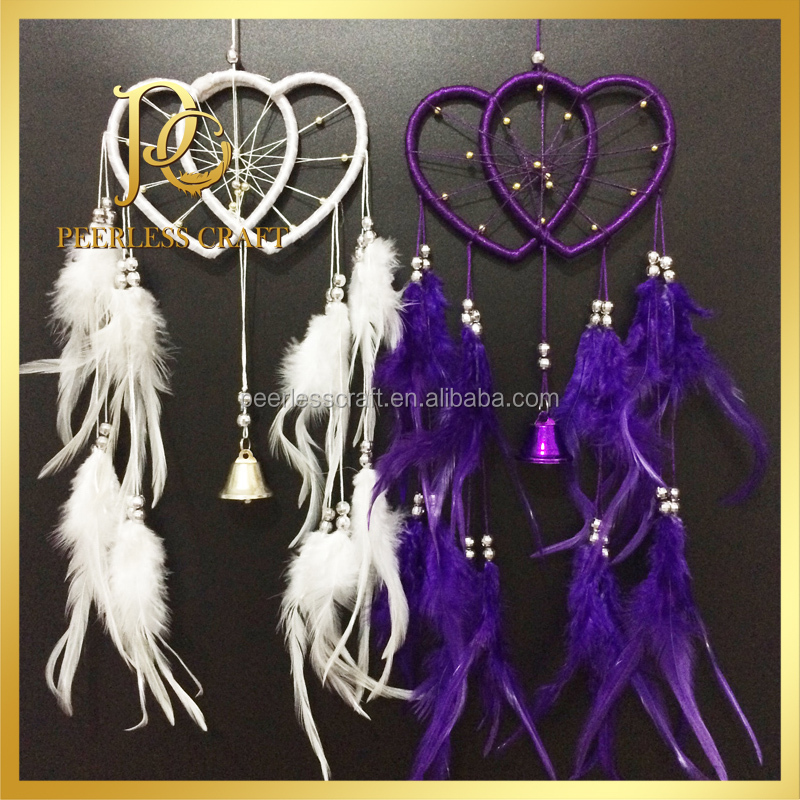 Wind Chime Soul Connection Double Hearts Wholesale Dream Catcher