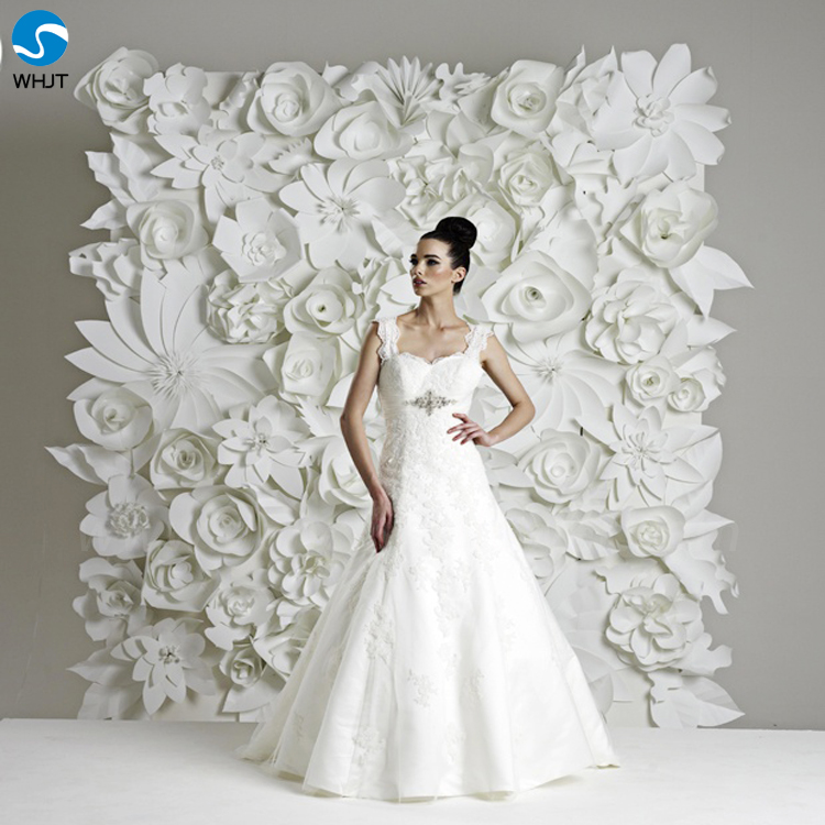 artificial white decoration wedding flower backdrop paper