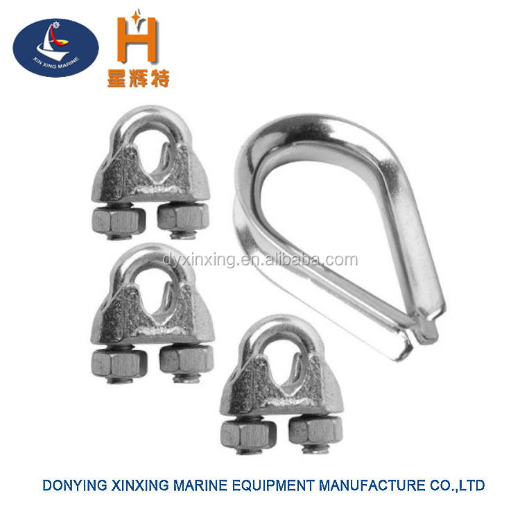Marine Hardware Stainless Steel Wire Rope Clips And Thimbles - Buy ...