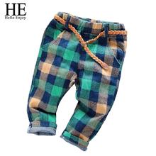 Chlapčenské kockované nohavice z Aliexpress