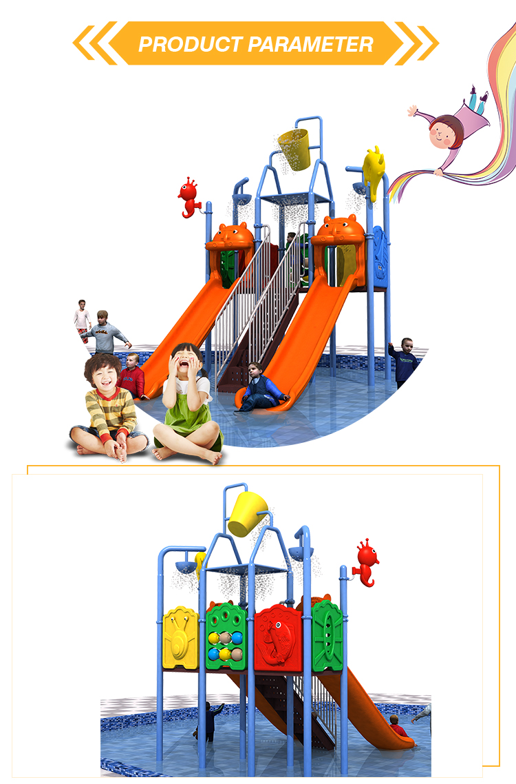 Fun game large water park playground equipment swimming pool water slide for kids