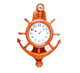 plastic ship steering wheel shape marine wall clock for decoration