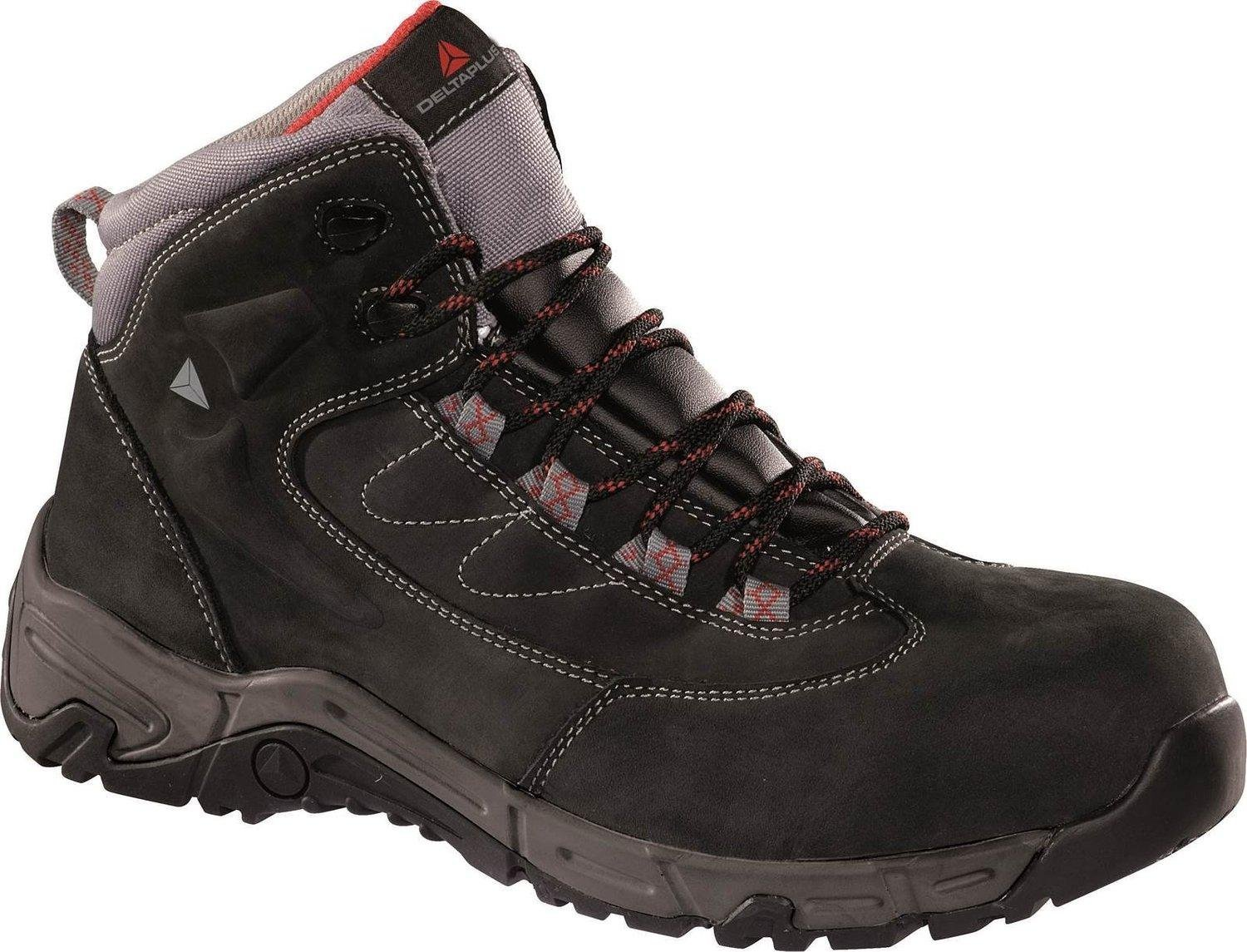 Panoply Mens Ohio 2 S3 Hro Src Work Safety Black Nubuck Leather Trainers Boots With Non Metallic Composite Toe Cap And Midsole US Size 10