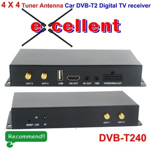 DVB-T240 Car TV channel car dvb receiver 4 antenna Receiver