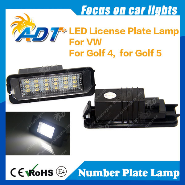 LED License Plate Light Lamp WHITE for VW golf 5 golf 6 new beetle passat polo Light Number Plate