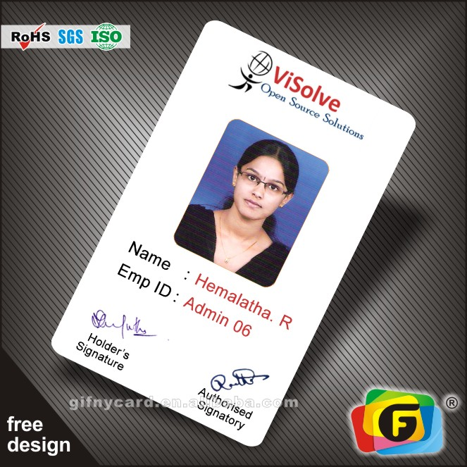 plastic working id card buy plastic company working id cardplastic company cardplastic staff job id card product on alibabacom - Plastic Id Cards