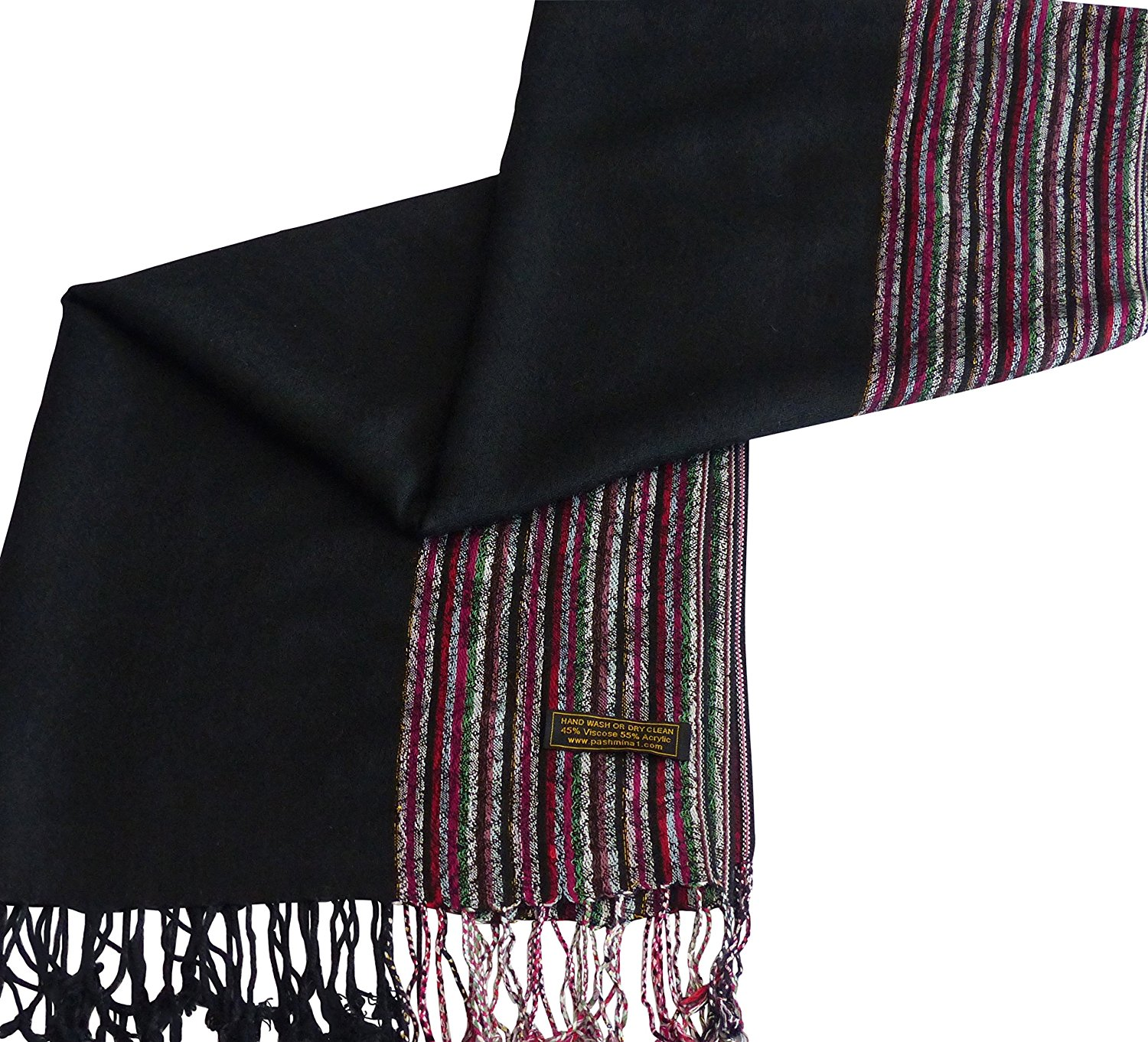 118a044bd Get Quotations · Moire Design Shawl Scarf Wrap Stole Throw Pashmina  Pashminas Shawls Seconds NEW