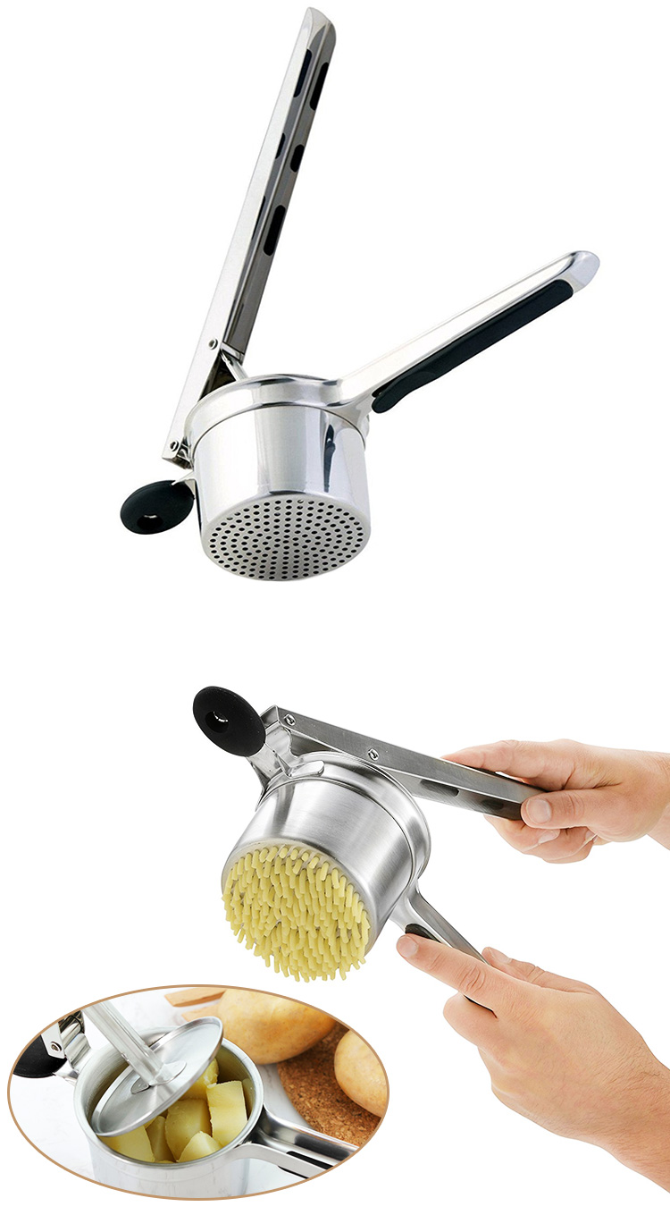Amazon Top selling  Potato Masher Stainless Steel Potato Ricer