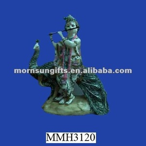 Lord Krishna novelty polyresin wholesale custom Indian God Statue