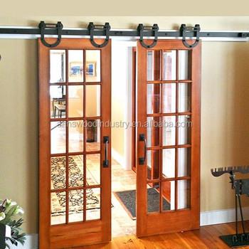 Doble hoja de la puerta de entrada de madera granero for Puerta granero madera