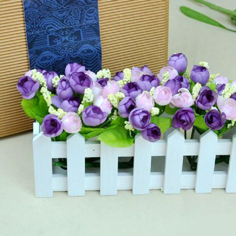 New <font><b>Elegant</b></font> Charming Beautiful Artificial Roses Flowers Bouquet <font><b>Home</b></font> <font><b>Decor</b></font> 15 Heads Wedding Party <font><b>Decor</b></font>