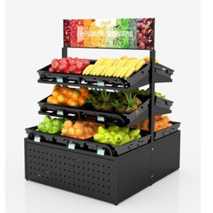 Supermarket Fruit and Vegetable Display Shelves Use for Fruit Vegetable Display Rack