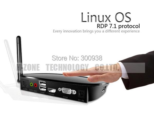 Беспроводной ARM Linux мини-пк тонкого клиента облако компьютер FL300W процессора двухъядерный 1 ГГц 512 МБ RAM Linux 3.0 встроенный RDP 7.1 протокол бесплатная доставка