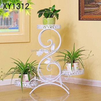 Xy1312 Modern Style 3 Tier Metal Plant Stand Home Decor Garden Patio