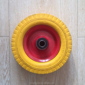 Hot selling with low price rubber pneumatic tire 150mm pu wheels 6x2