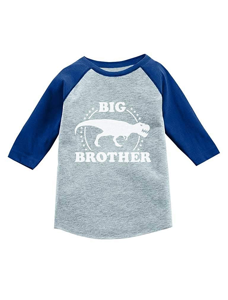 e1870821965 Get Quotations · Trex Raptor Big Brother Sibling Gift 3/4 Sleeve Baseball  Jersey Toddler Shirt