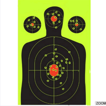 Splatter Shooting Target , Instantly See Your Shots Burst Bright Florescent Yellow Up