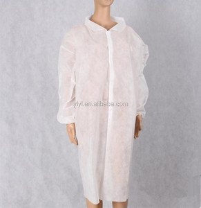 Alibaba hot sell cheap electronic non woven adult disposable lab coat lab gown