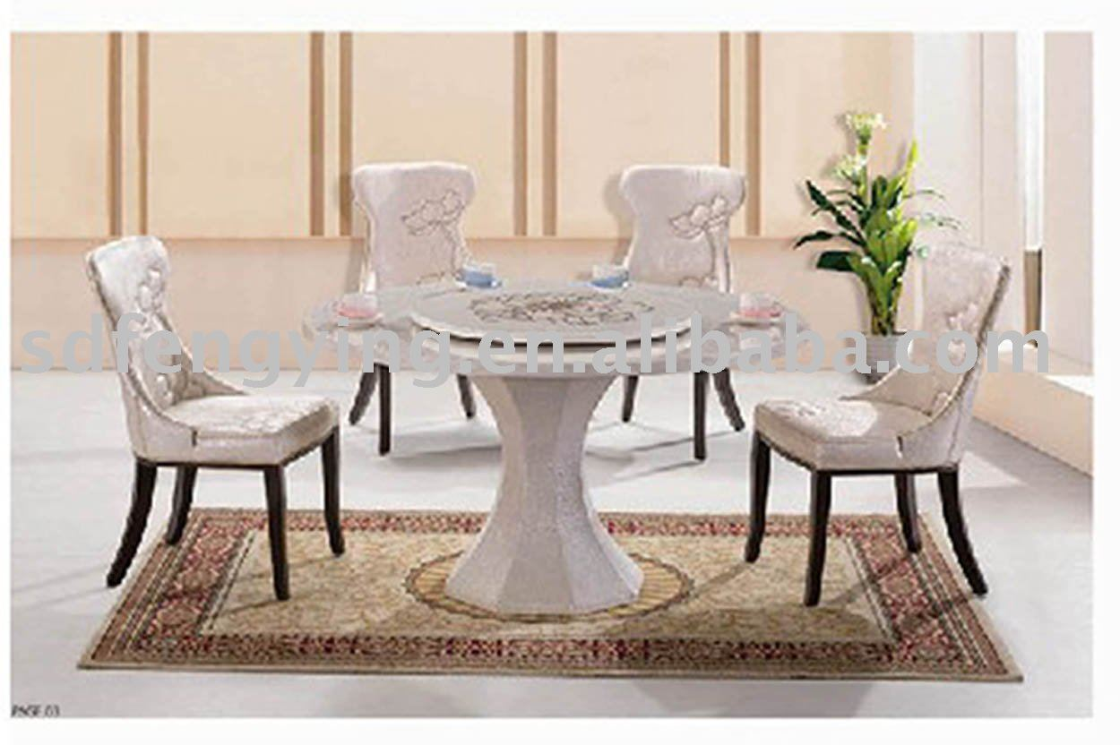 Round marble dining table set buy round marble dining for Marble dining room table