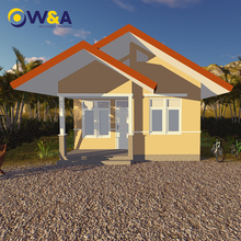 (WAS1007-40D)China Light Steel Prefabricated House Luxury Villas with Porch