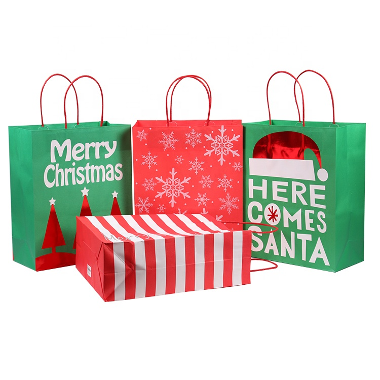 Merci del Punto di promozione Di Natale di Design Pattern Presenta Regalo Shopping Bag di Carta