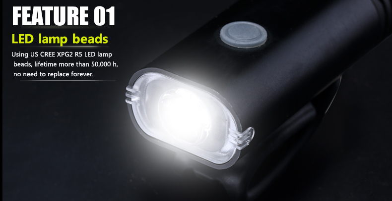 Outdoor USB rechargeable bicycle accessories light mountain bike head lamp LED bicycle front light