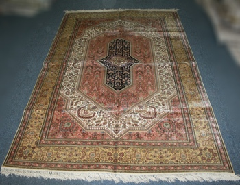 wangyue Luxury Hand Knotted Persian Silk Carpet Chinese Hand made Silk