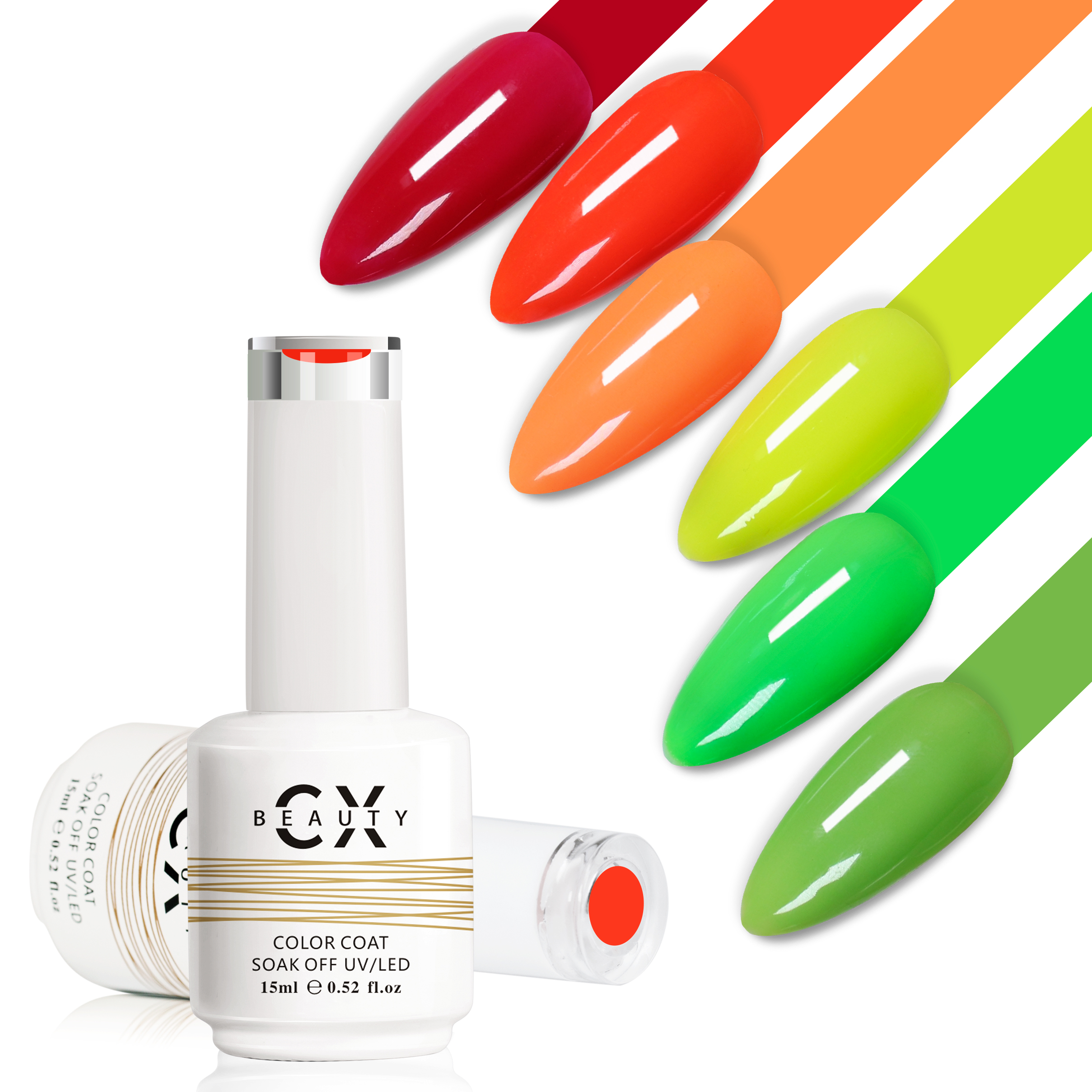 CX beauty 282 pure color uv gel polish gel nail polish China manufacturer nail uv gel polish