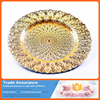 High Quality Beautiful Gold Electroplate Shell Wedding Decoration Charge Plate