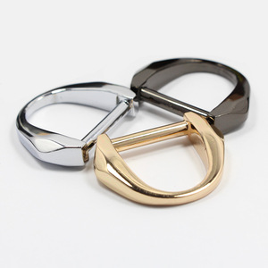 Wholesale Nickel Zinc alloy Metal d ring snap hook for bag strap