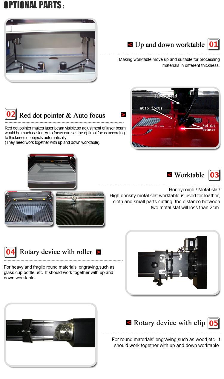 1290 Hout MDF CNC CO2 Acryl lasergravure snijmachine