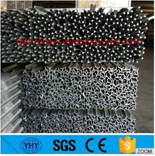 high quality steel T fence post stakes coated with green powder