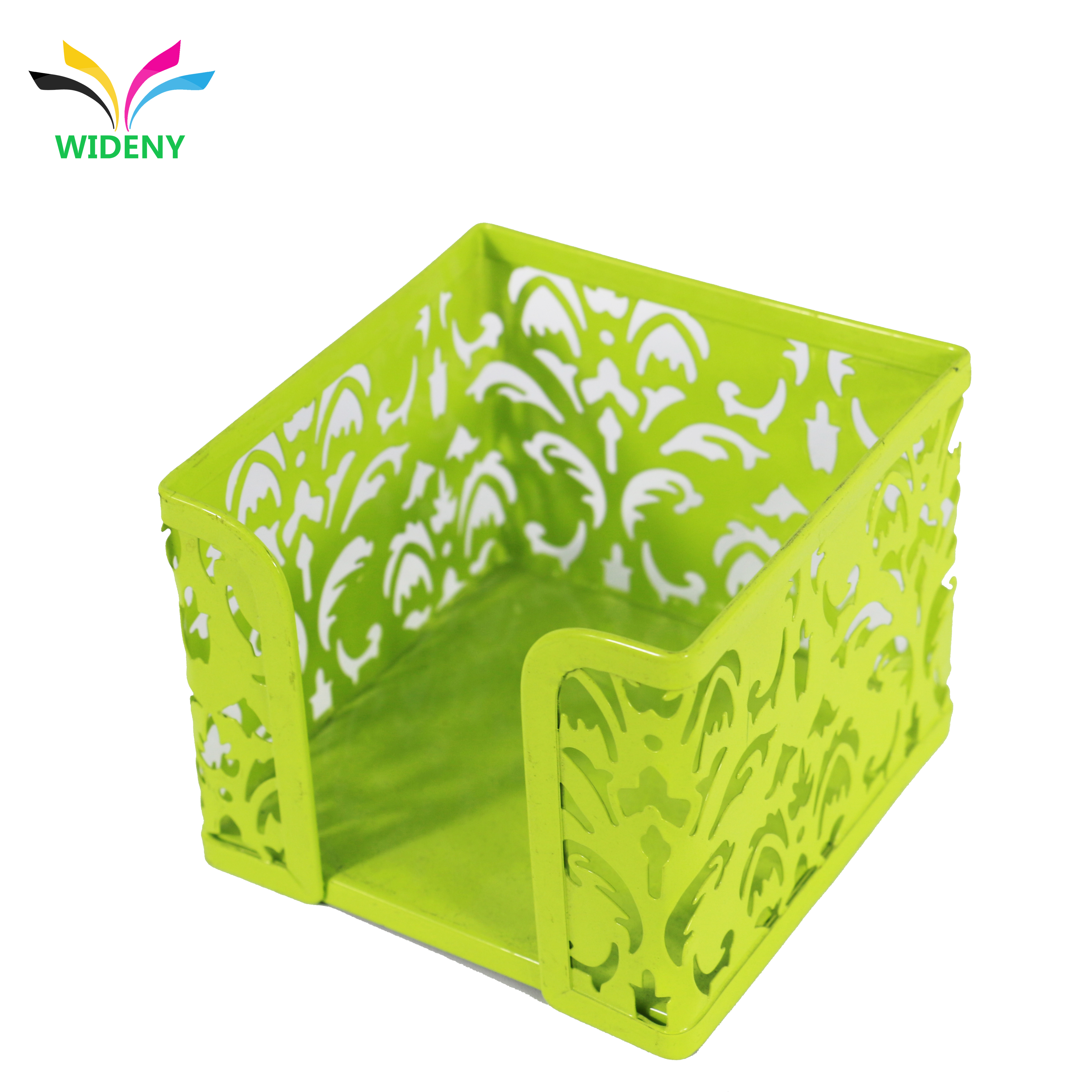 office school home good quality metal Cube Note Paper Holder Box,  Memo Pad Tray Storage Holder