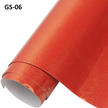 ROHS Certificate 1.52*20m 3layers air free bubbles adhesive red glossy metallic pearl Vinyl Car wrapping Sticker