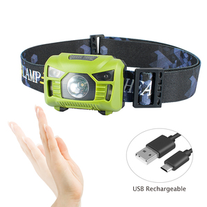 ESEN97 Plastic popular style 3 modes rechargeable 100 lumens long time lighting sensor hands free headlamp light