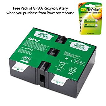 APC APCRBC124 Battery - Genuine APC APCRBC124 Cartridge #124 Maintenance-Free Lead Acid Battery