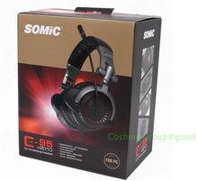 Free shipping!!Somic E-95 V2010 5.1 Surround Gaming Headset Stereo Headphone Vibrator Audio Card