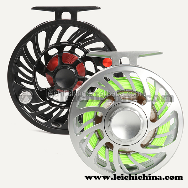 Cnc aluminium fly reel used in saltwater fishing